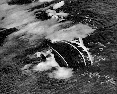 Image result for andrea doria sinking